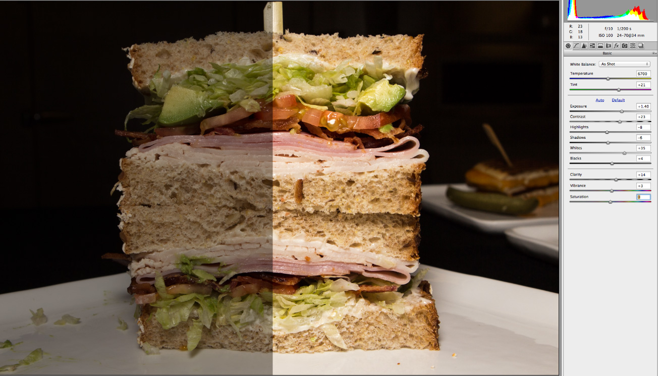 food clean up split image animated