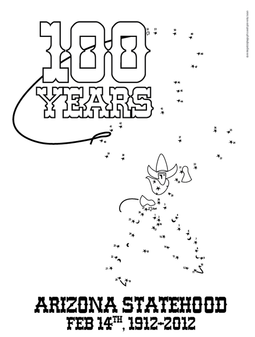 Free Arizona Statehood Coloring Page