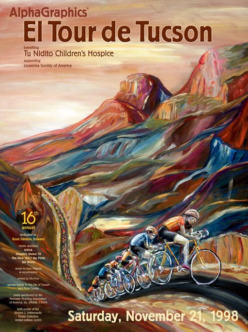 1998 El Tour de Tucson poster