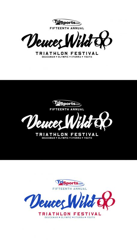 Deuces Wild Triathlon Festival logo concepts